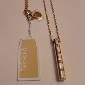 Michael Kors Nwt Gold/Crystal Pendant